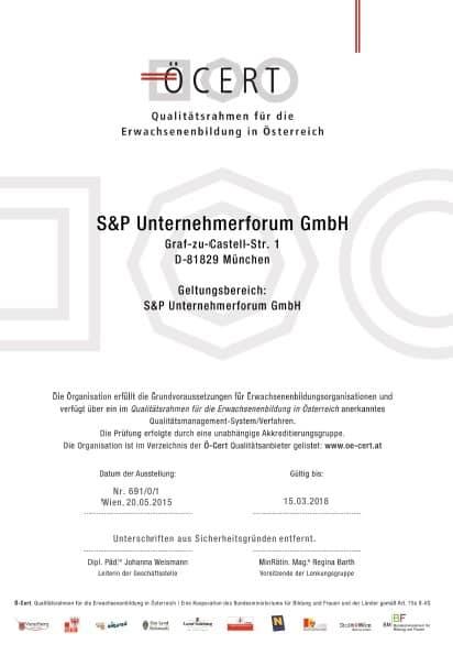 SP-Unternehmerforum-Zertifizierung-ÖCERT-ÖCERT
