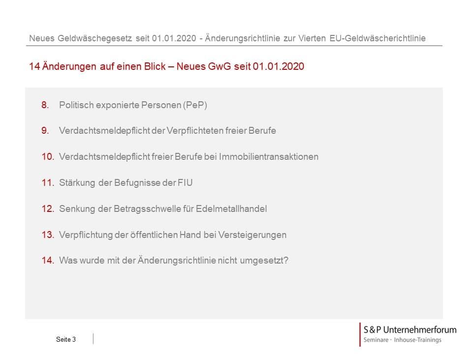 Neues Geldwäschegesetz seit 01.01.2020