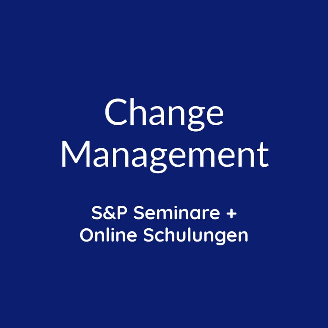 Seminare Change Management online buchen