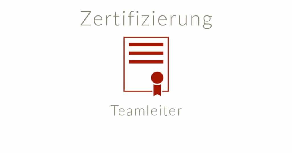 Zertifizierter Teamleiter online buchen