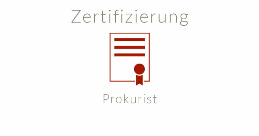 Zertifizierter Prokurist online buchen