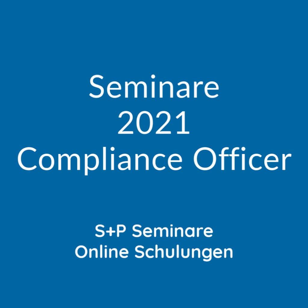 Ausbildung zum Compliance Officer + S+P Lehrgang