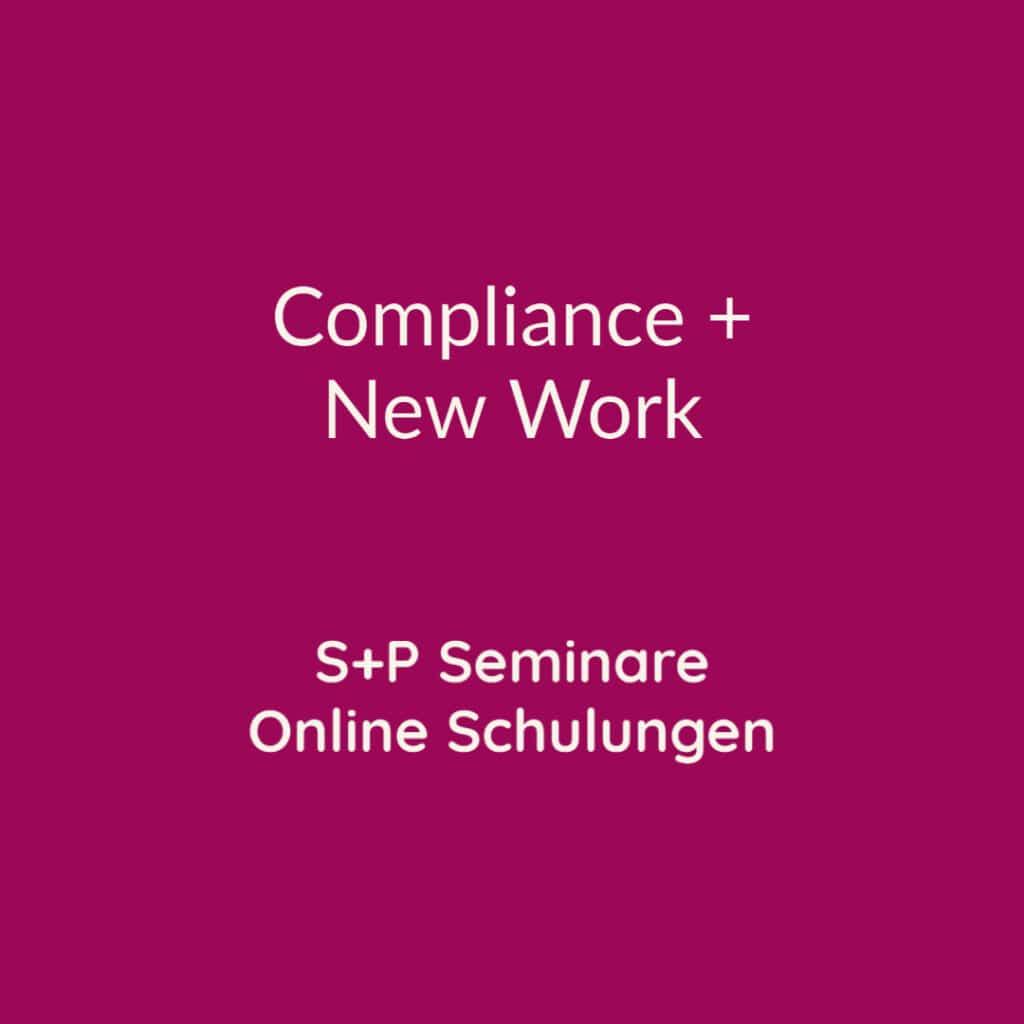 Seminare Compliance + New Work