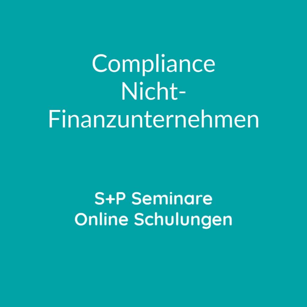 Seminare Compliance Nicht-Finanzunternehmen