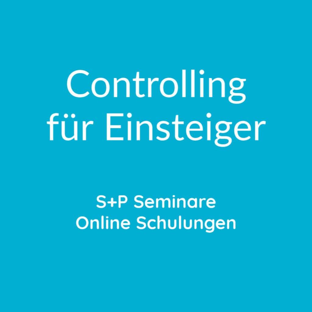 Seminare Controlling für Einsteiger + Online Schulungen