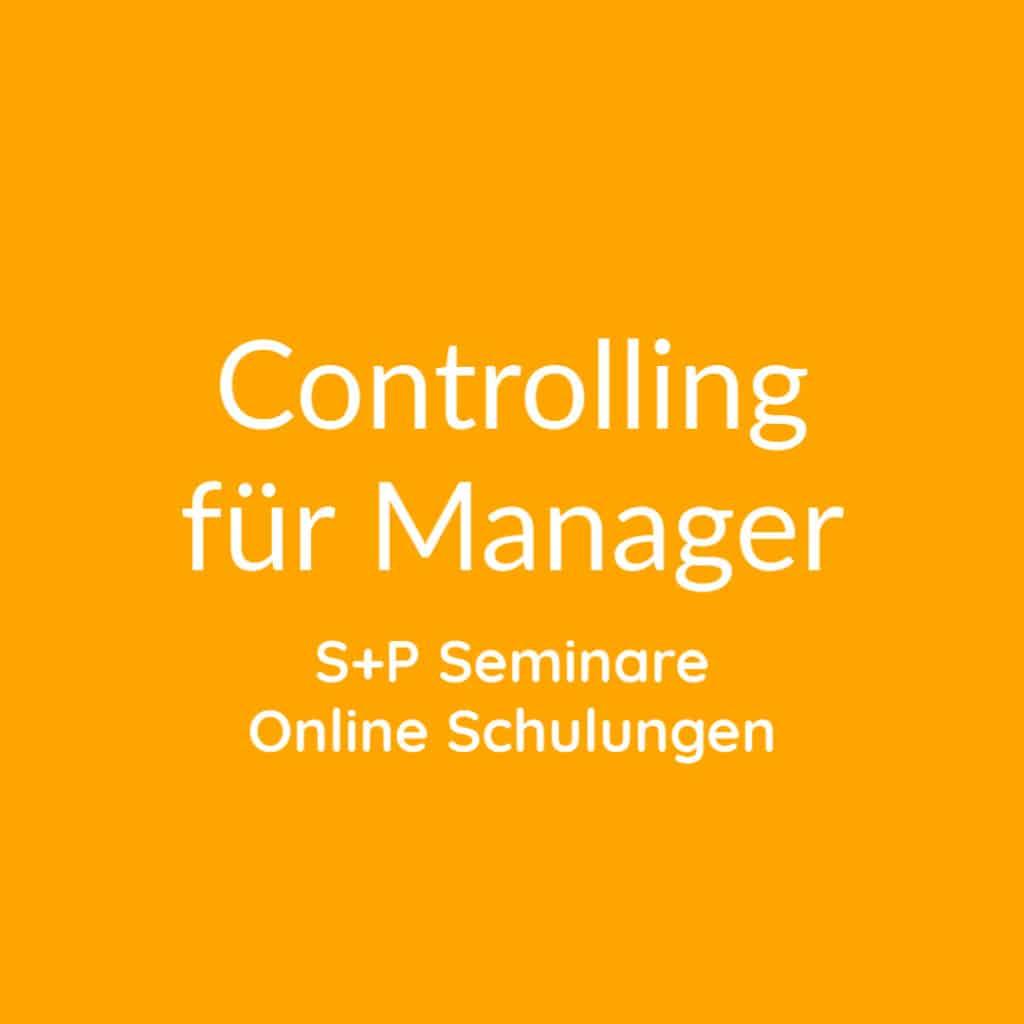 Seminare Controlling für Manager online buchen