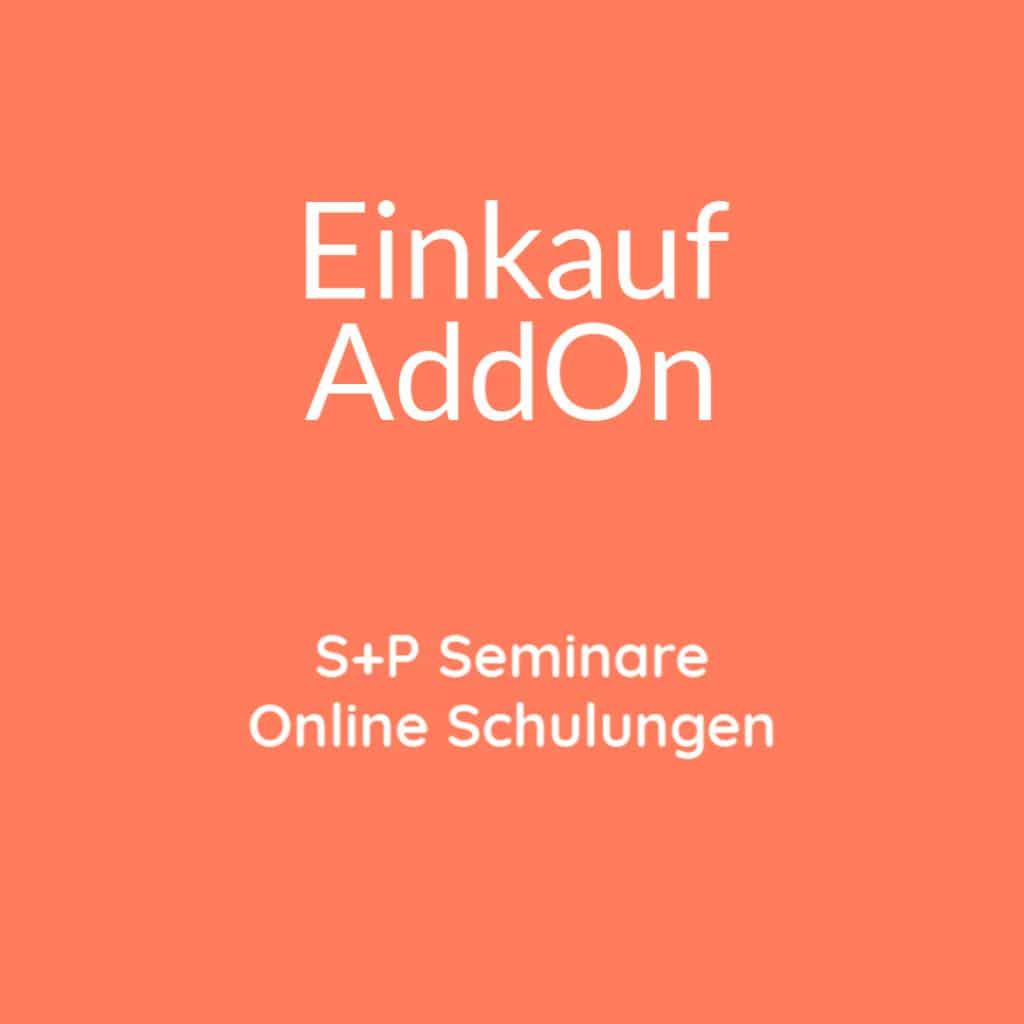 Seminare Einkauf AddOn + Online Schulung Einkauf AddOn