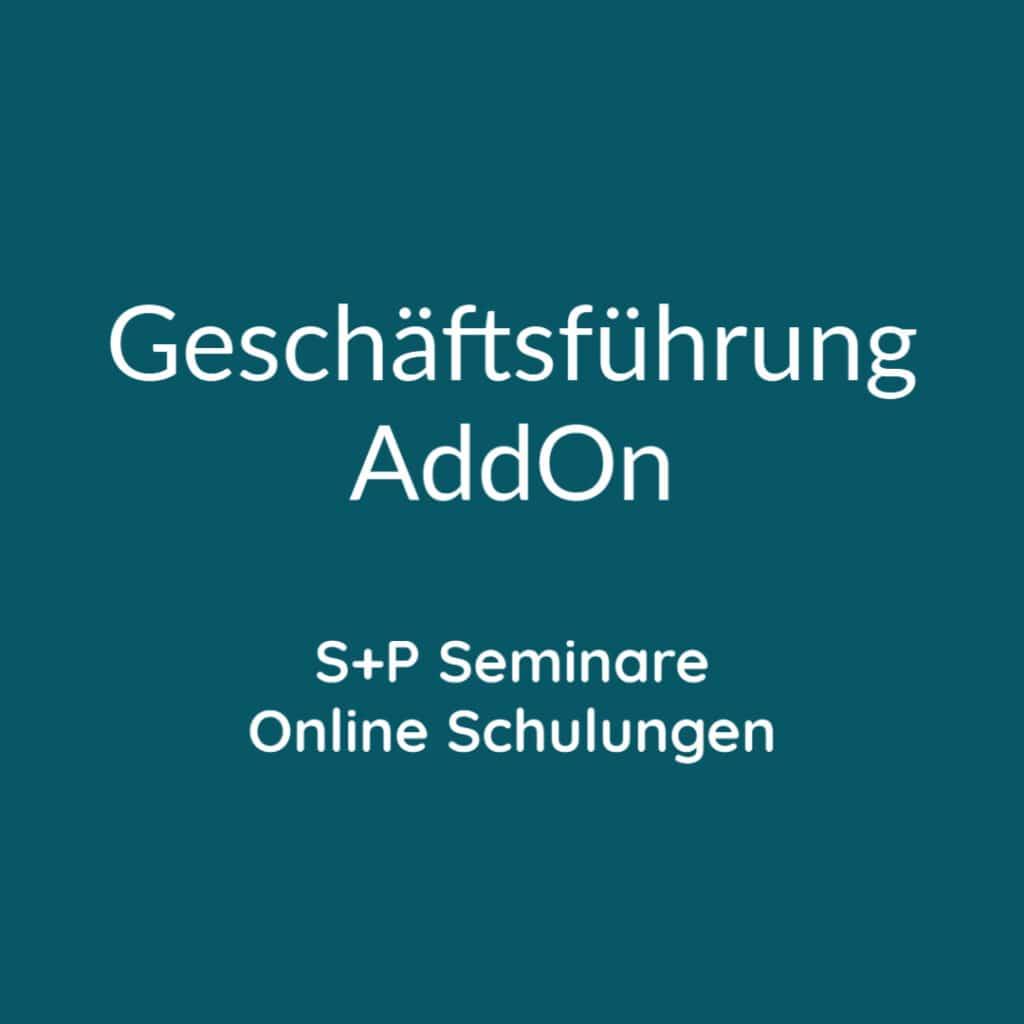 Seminare Geschäftsführung AddOn + Online Schulungen