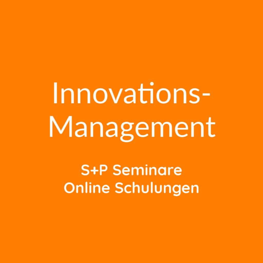 Seminare Innovationsmanagement online buchen