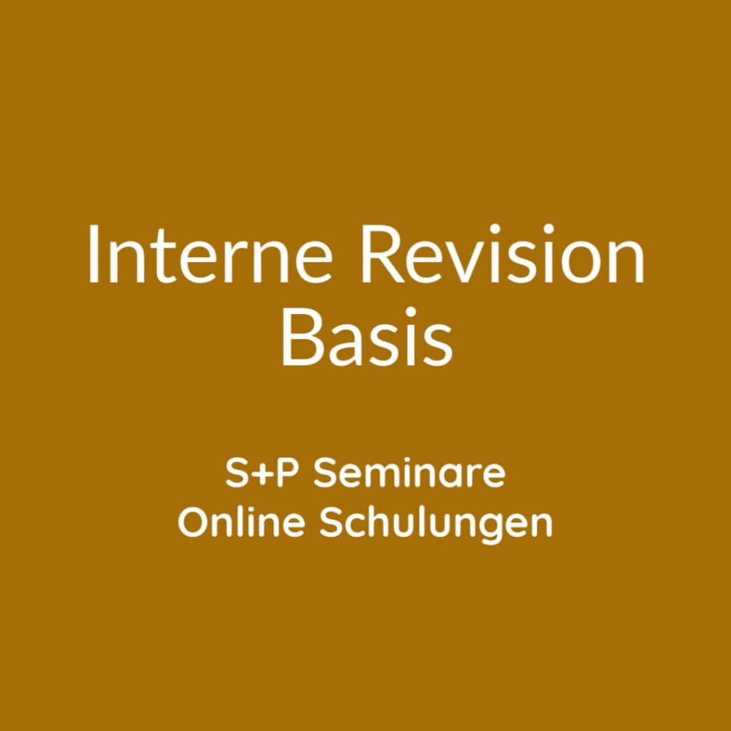 Seminare Interne Revision Basis + Online Schulungen