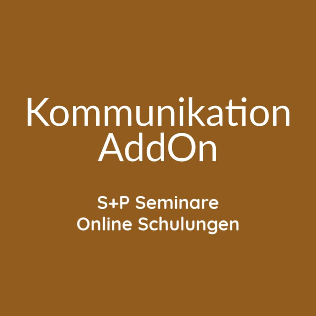Seminare Kommunikation AddOn+ Online Schulungen