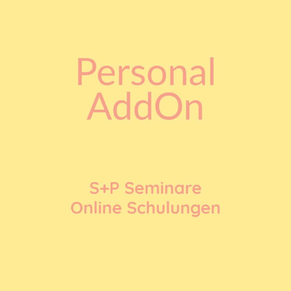 Seminare Personal AddOn + Online Schulung Personal AddOn