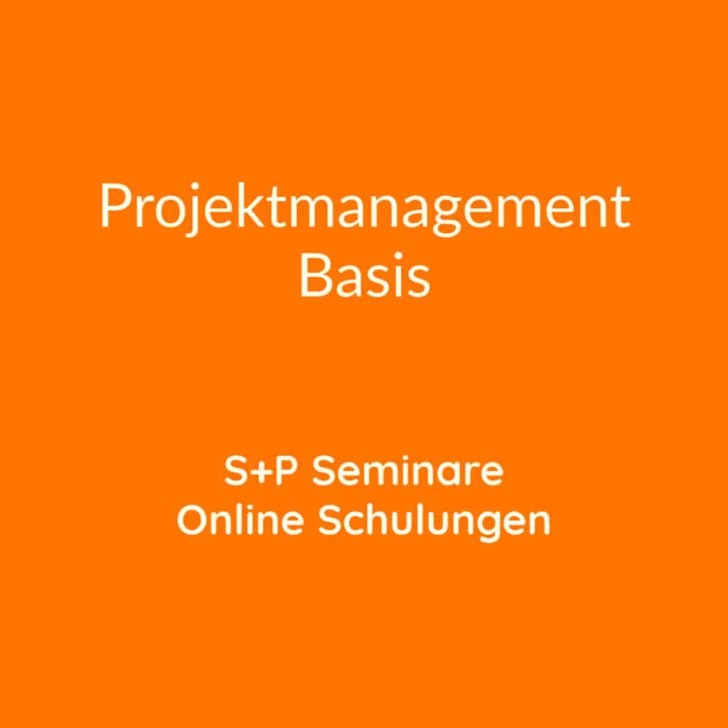 Seminare Projektmanagement Basis + Online