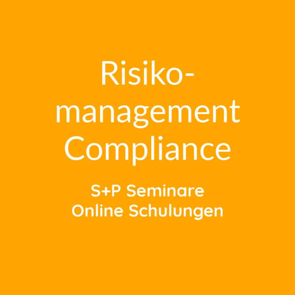 Seminare Risikomanagement + Compliance + Nachhaltigkeit