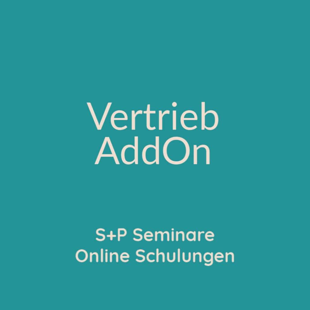 Seminare Vertrieb AddOn + Online Schulungen Vertrieb AddOn