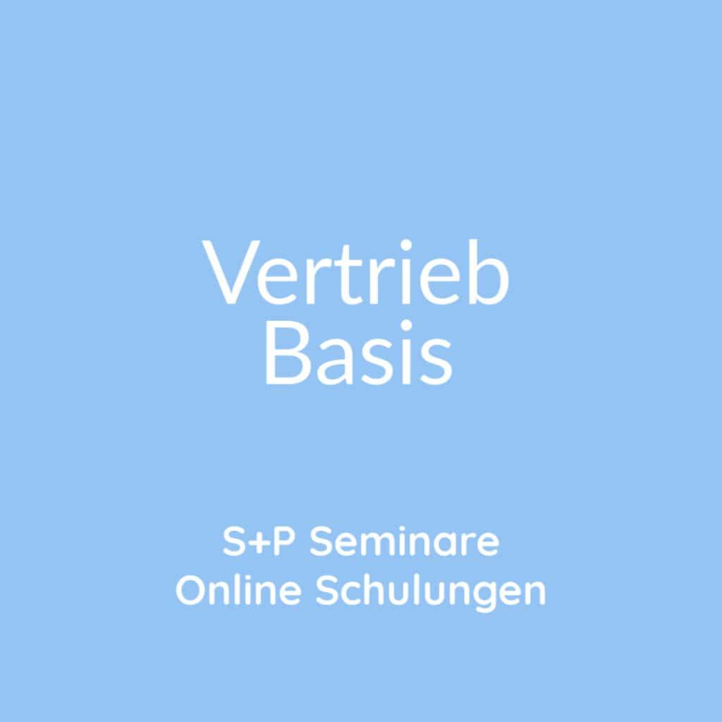 Seminare Vertrieb Basis + Online Schulungen Vertrieb Basis