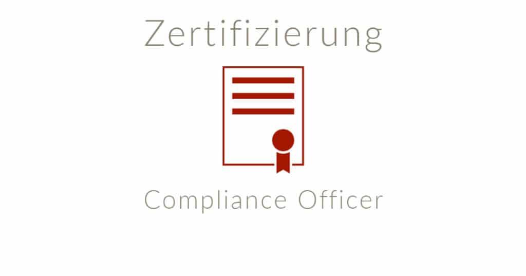 Inhalte Zertifizierungslehrgang Compliance Officer (S+P)